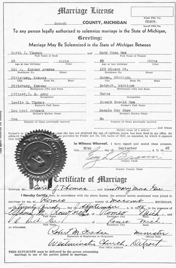 mona garth marriage